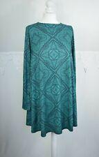 k Ferne Cotton tent dress tunic paisley stretchy jersey size 10UK