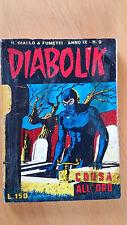 DIABOLIK anno IX n. 9  Corsa all'oro  ORIGINALE  Sodip 1970