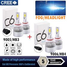 9005+9006 3000W 450000LM CREE LED HEADLIGHT Kit High Low Beam Fog Light Bulbs GW