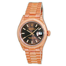 ROLEX 18K Rose Gold Pink 28mm Datejust President 279165 Warranty 2016 UNWORN