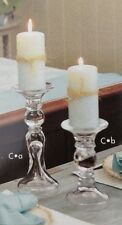 """SOUTHERN LIVING AT HOME CHELSEA CANDLESTICK NIB CLEAR GLASS RARE UNOPENED 11"""""""