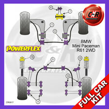 Mini Paceman 2WD 13-16 LowEngMntLrgInsert, RrTrailArmFrBushes Powerflex Full Kit