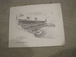 CROSLEY FIELD PENCIL SKETCH Given Out At Last Game 6/24/70 Cincinnati Reds