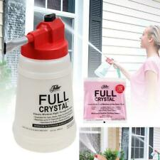 Outdoor Crystal Window Cleaner Full Glass Exterior Cleaner Spray Bottle +Powder