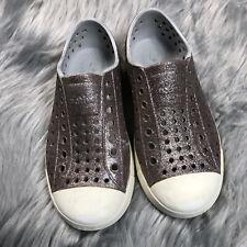 Native Jefferson Toddler Girls Childrens Metallic Glitter Shoes Sz 11