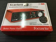 Focusrite Scarlett 2i2 USB 2.0 Audio Interface 2nd gen,MIDI  ,New //ARMENS//.