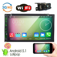 "Android 5.1 7"" 2Din InDash Car DVD Radio Stereo Player WiFi 3G GPS+Tablet+Camera"