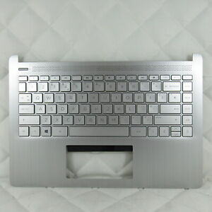 HP 14S-DQ 14S-FQ SERIES LAPTOP PALMREST WITH UK KEYBOARD SILVER L88200-031