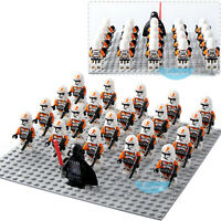 21PCS Star 212th Attack Battalion Clone Trooper Building Blocks Mini Figure Toy