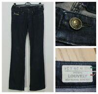DIESEL Louvely Women's Jeans Size W32 L32 Stretch Bootcut Blue Denim k0553