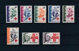 D173644 Congo MNH Red Cross Flowers