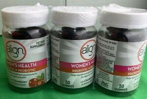 3 PK ALIGN Women's Health Prebiotic Probiotic  50 Count ea,150 TOTAL EXP02/2022