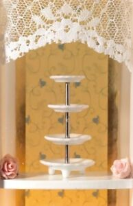 1/12th Scale Dolls House White 4 Tier Cake Stand.