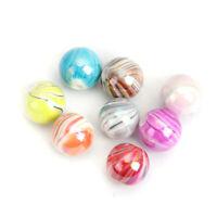 10 Stück Acryl Perlen Rund AB Farbe Streifen Perlen ca. 12mm D. Loch:ca. 2.2mm