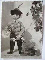 Puppen Figuren Holzpuppen, Herzliche Gratulation, Conny Card 108