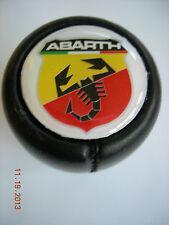 GEAR SHIFT KNOB LEATHER FIAT ABARTH