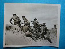 MILITARIA - SOLDATI CON MITRAGLIATRICI FOTOGRAFIA ORIGINALE ANNI '30 PHOTO