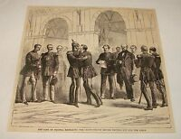 1882 magazine engraving ~ KING OF PRUSSIA+CROWN PRINCE, Germany