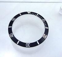 1990 Rolex Watch Bezel Insert Black Luninous 16600 Sea Dweller fat Font 4 Part