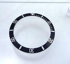 1990 Rolex Black Luninous 93160 16600 Sea Dweller Watch Bezel Insert fat 4 Part
