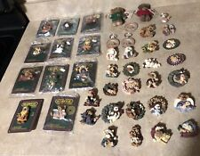 Boyds Bears Bearwear Plush Keychains Magnet Lot Of 41 Items New