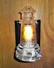 "Lighthouse Night Light Plug in with Electric Eye Nautical Wall Decor 4 3/4"" tall"
