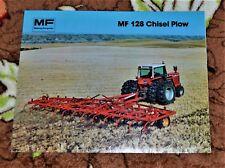 VTG Advertising 1978 Massey Ferguson Tractor MF 128 Chisel Plow Brochure