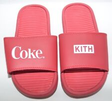 Kith X Coca Cola Coke Slides Sandals Slip On Mens Size 7 100% Authentic In Hand