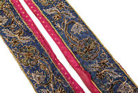 Vintage Sari Lace Border Trim Embroidered Sewing Antique Ribbon Lace 1 Yd ST2565