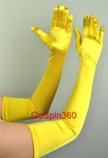 OPERA LONG Length Stretch SATIN Gloves YELLOW GOLD