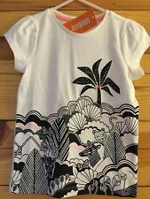 NWT Gymboree Animal Party Animal Paradise Tee Neon Accent Shirt Girls Top Size 5