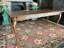 Vintage Mini Dollhouse Museum Artisan Signed Walnut Hand Carved Dining Table