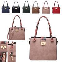 Ladies Faux Leather Multi Compartment Handbag Snakeskin Shoulder Bag Tote MW6073