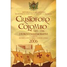 2006 SAN MARINO 2 EURO COMMEMORATIVO CRISTOFORO COLOMBO FDC IN CONFEZIONE MF2984
