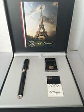 S.T. Dupont Chinese Lacquer Fountain Pen & Lighter Set, Paris Saint-Germain, NIB