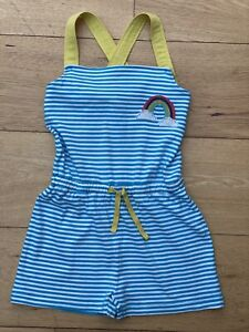 Mini Boden summer Playsuit Rainbow Applique age 5-6 worn once Immaculate!