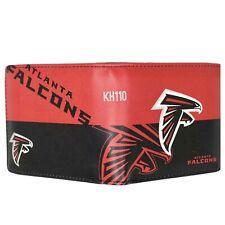 Atlanta Falcons NFL Men's Printed Logo Leather Bi-fold Wallet
