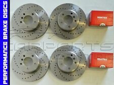 for BMW 335i 335d Front Rear Cross Drilled Performance Brake Discs BREMBO Pads