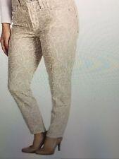 NWT NYDJ Not Your Daughters Jeans Ankle ALISHA BONE PRIMROSE Design $110 SZ 12P