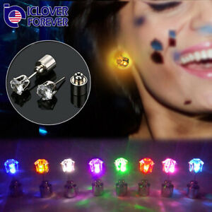 1/3/10Pairs Colors Changing LED Light Up Earrings Ear Studs Flash for Xmas Party