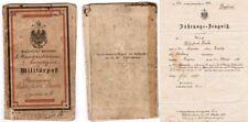 Sehr seltener Militärpass SMS Habicht 1886 Kolonien Deutsch-Ostafrika