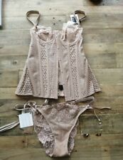 JEAN PAUL GAULTIER LETHER CORSET AND THONGS SZ S