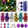 24PCs Christmas Tree Decor Ball Bauble Hanging Xmas Party Ornament + 6PC Santa