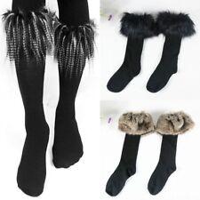 Womens Ladies Winter Warm Thick Thermal Ski Fur Cuff Boot Socks Fluffy Stocking