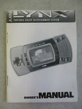 Vintage Atari Lynx Portable Hand Held Owner'S Manual Only