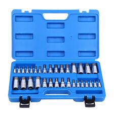 32 PCS Wrench Bit Kit Hex Key For Ratchet Socket Tool SAE Metric MM Size Set