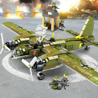 WW2 Military Bomber Building BlocksTank Weapon Brick Children Toys Gifts