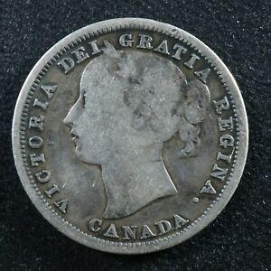 20 cents 1858 Canada silver Queen Victoria c ¢ VG-8