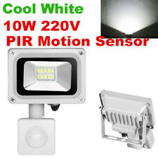 10W LED Flood Light PIR Motion Sensor Spot Lamp Outdoor Garden Landscape White