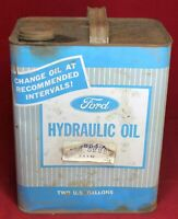 Ford Hydraulic Oil 2 Gallon Can - Tractor - Advertising - Tin - Vintage